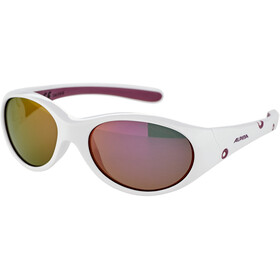 Alpina Flexxy Bril Meisjes, white-purple/pink mirror